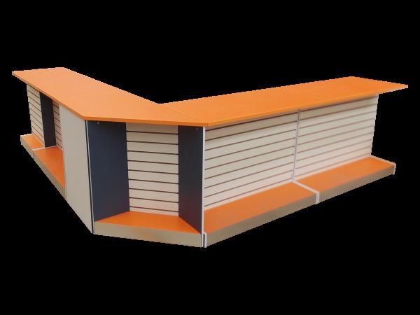 recepción naranja con azul 1005